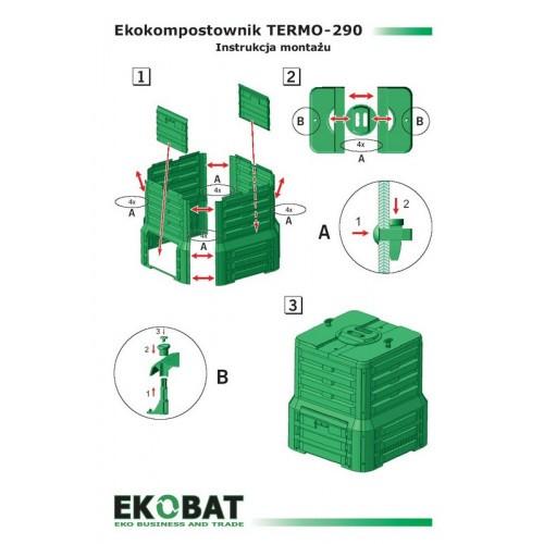 Kompostownik Termo 290 Zielony 280l