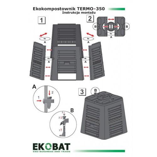 Kompostownik Termo 350 Czarny 350l