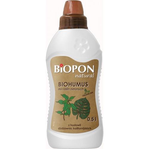 Biohumus Natural Do Roślin Zielonych 1l Biopon