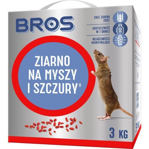 Ziarno Na Myszy I Szczury 3kg Bros