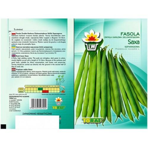 Nasiona Fasola Szparagowa Zielona Saxa Toraf