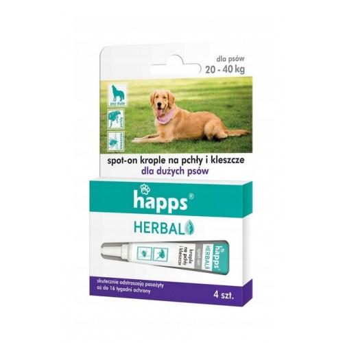 Happs Herbal Krople Na Pchły i Kleszcze Dla Dużych Psów
