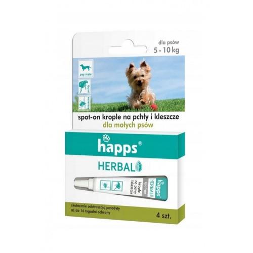 Happs Herbal Krople Na Pchły i Kleszcze Dla Małych Psów