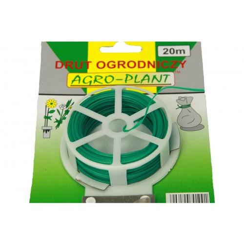 Drut Ogrodniczy Zielony Powlekany Wiązałkowy 20m AJ