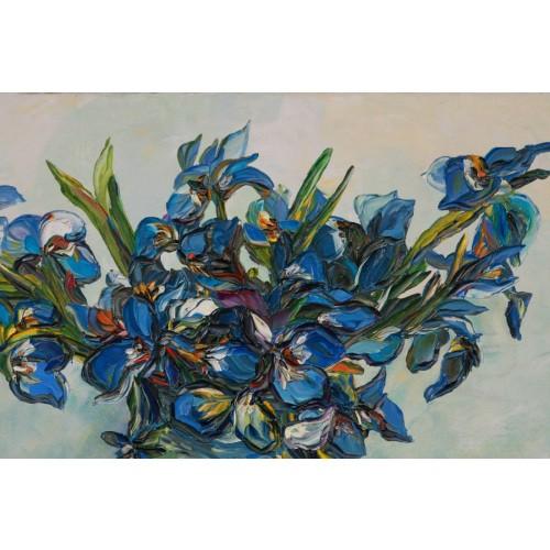 Obraz Olejny Kwiaty 70x60 Cm