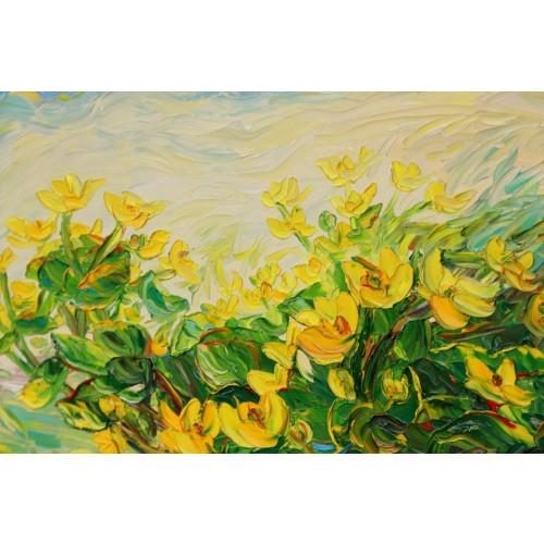 Obraz Olejny Kwiaty 73x61 Cm