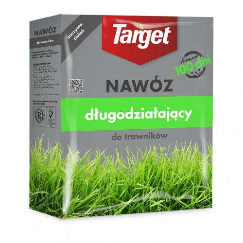 Nawóz Długodziałający Do Trawników 1kg Target 100dni