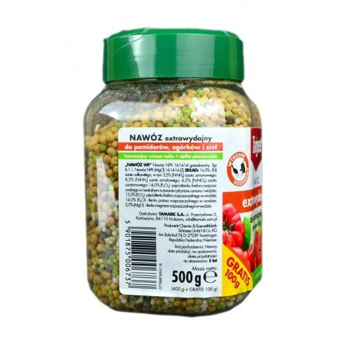 Nawóz Extrawydajny Do Pomidorów, Ogórków i Ziół  500G Target