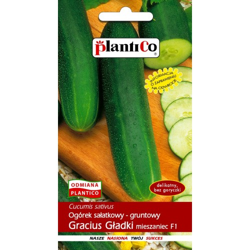 Ogórek Gruntowy Gracius Gładki 5g PlantiCo
