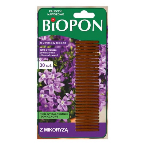 Pałeczki Nawozowe z Mikoryzą 30szt Biopon
