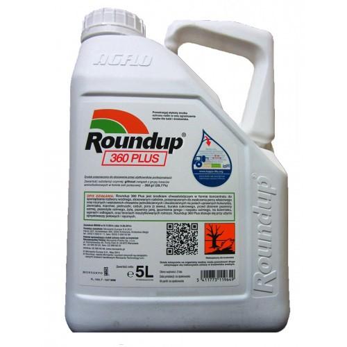 Roundup 360sl  Plus Niszczy Chwasty Korzenie 5l