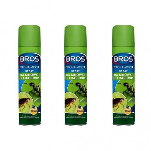 3szt Spray Na Mrówki i Karaluchy Zielona Moc Bros