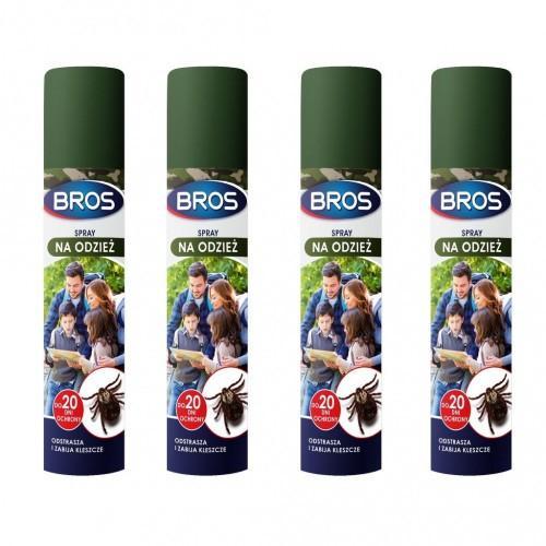 4szt Spray Na Odzież Odstrasza I Zabija Komary I Kleszcze 90ml Bros