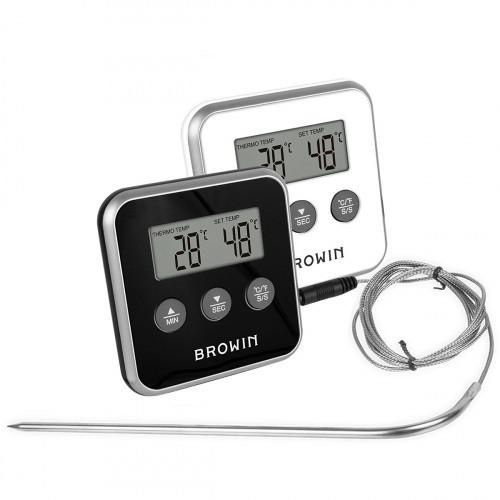Termometr z Sondą Do Wędzarni Gotowania Alarm Minutnik
