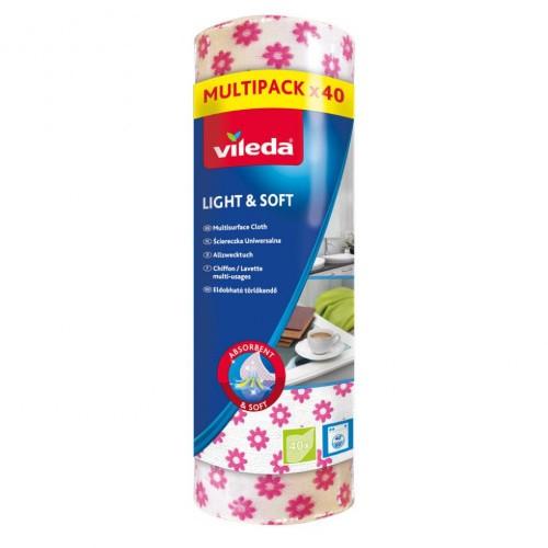 Vileda Ściereczka Ręcznik Rolka 40szt Light Soft