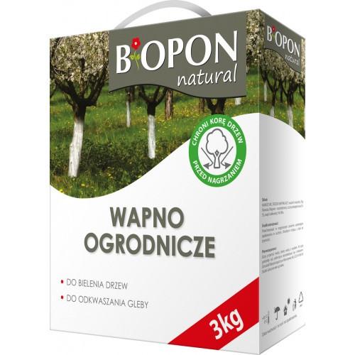 Wapno Ogrodnicze Do Bielenia i Odkwaszania 3kg Biopon