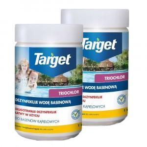 2szt Chlor Triochlor Basen 1kg Target tabletki 50x20g