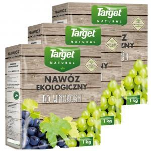 3szt Nawóz Ekologiczny do Winorośli 1kg Target