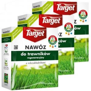 3szt Nawóz Granulowany Do Regeneracji Trawników 1kg Target