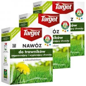 3szt Nawóz Granulowany Zagęszczający Na Chwasty 1kg Target