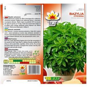 Nasiona Bazylia Cytrynowa Toraf