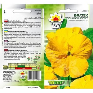 Nasiona Bratek Wielokwiatowy żółty  Toraf