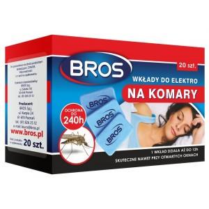 Elektro Wkłady Zapasowe Na Komary 20 Szt. Bros
