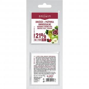 Drożdże Bayanus + Pożywka Uniwersalna 21%