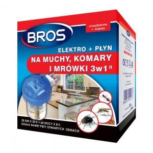 Elektro + Płyn Na Muchy Komary Mrówki Bros