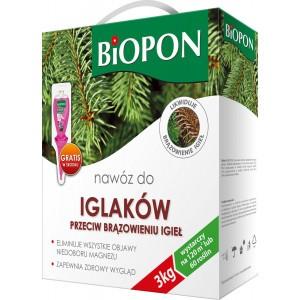 Nawóz Do Iglaków Przeciw Brązowieniu Igieł 3kg Biopon