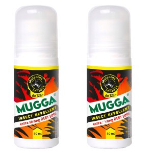2x Mugga Roll-on 50% Deet 50ml Extra Strong