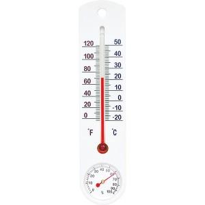 Termometr -20+50st C Higrometr Biały Duży