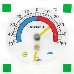 Termometr Higrometr Przyklejany 90/90mm 024800