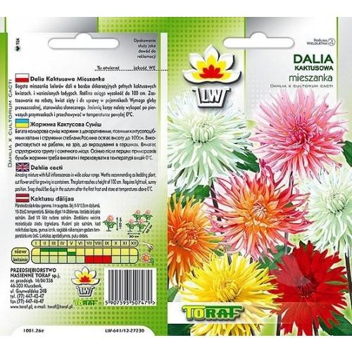 Nasiona Dalia Kaktusowa Mieszanka Mix Toraf