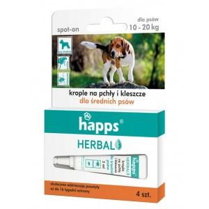 Happs Herbal Krople Na Pchły i Kleszcze Dla Średnich Psów