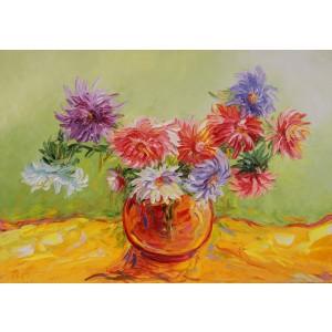 Obraz Olejny Kwiaty 100x70 Cm