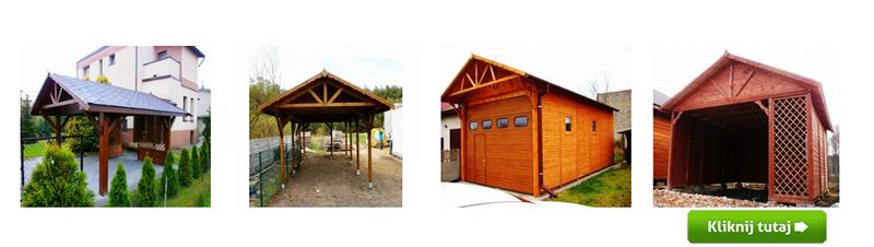drewniana wiata garazowa Gardenowo